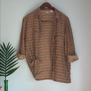 Vintage 100% Silk Button Down Blouse